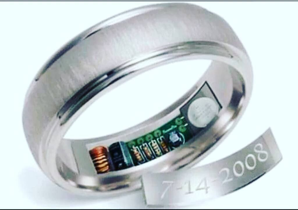 GPS wedding ring. The GPS will track your loved one anywhere. What