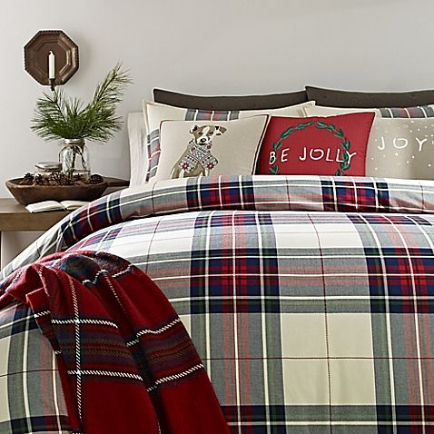 Ed Ellen Degeneres Tartan Plaid Full Queen Duvet Cover In Ivory Plaid Bedding Plaid Bedroom Plaid Comforter