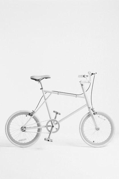 White foldable bike