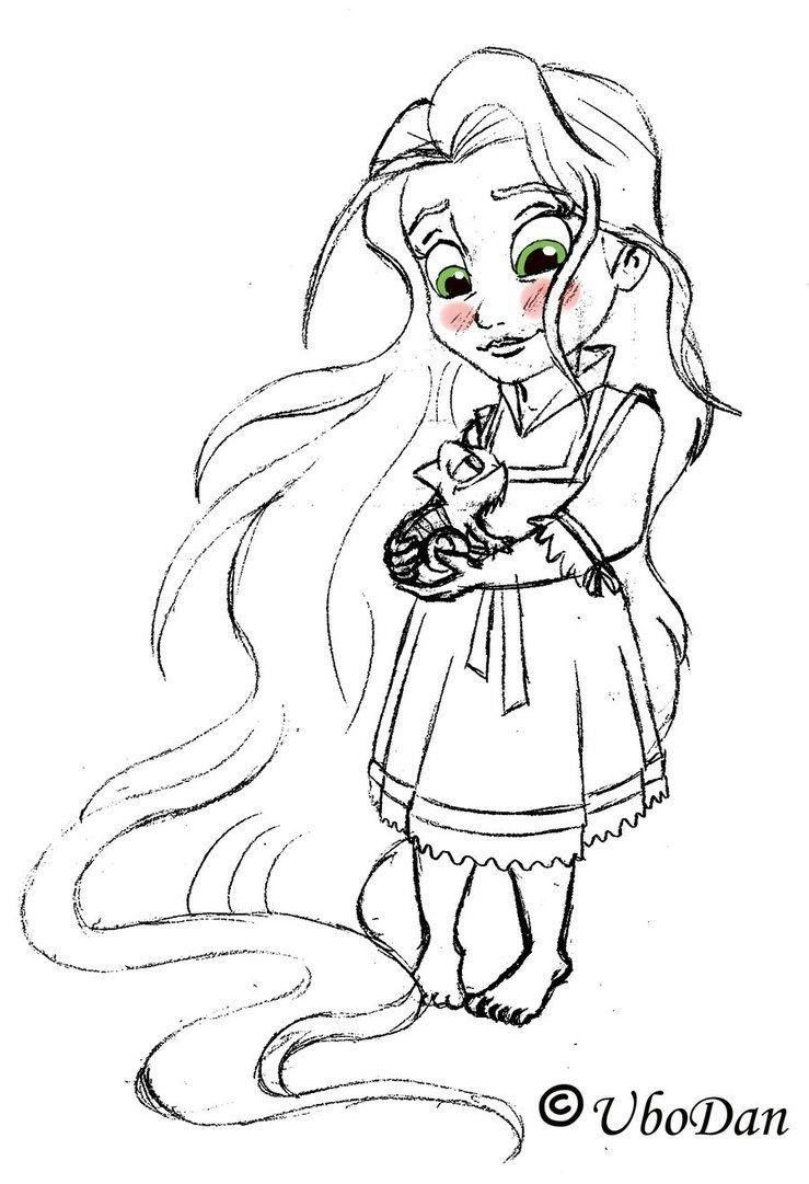 Cute Disney Princess Coloring Pages | Rapunzel coloring ...