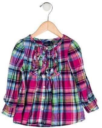 4bea97466 Girls' Plaid Ruffle Dress in 2019 | Products | Ruffle dress, Plaid ...