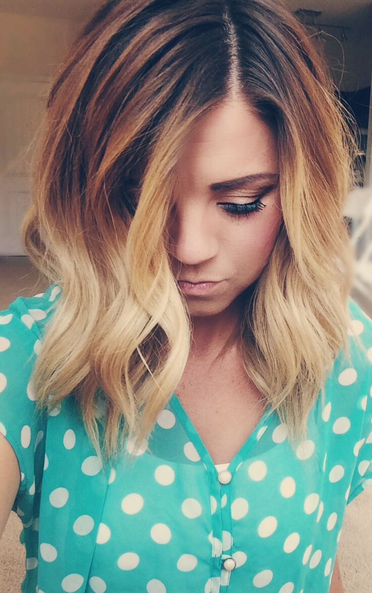 Chocolate Brown To Golden Blonde Ombr 233 Haircolor Ombre