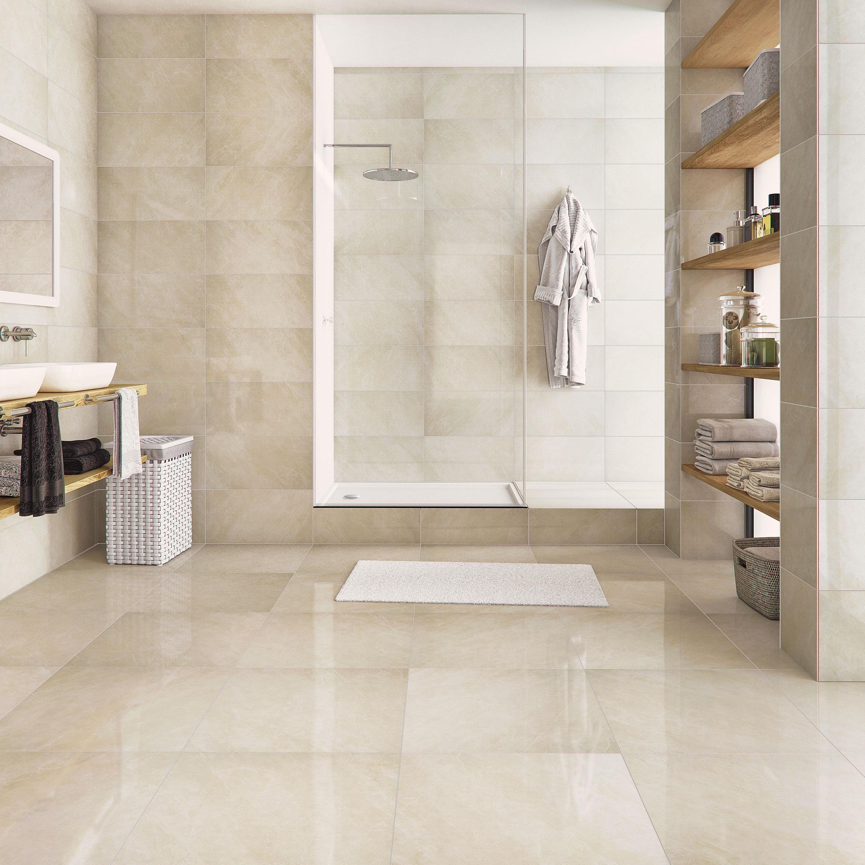 Recouvrir Carrelage En Relief carrelage sol et mur intenso effet marbre beige windsor l.30