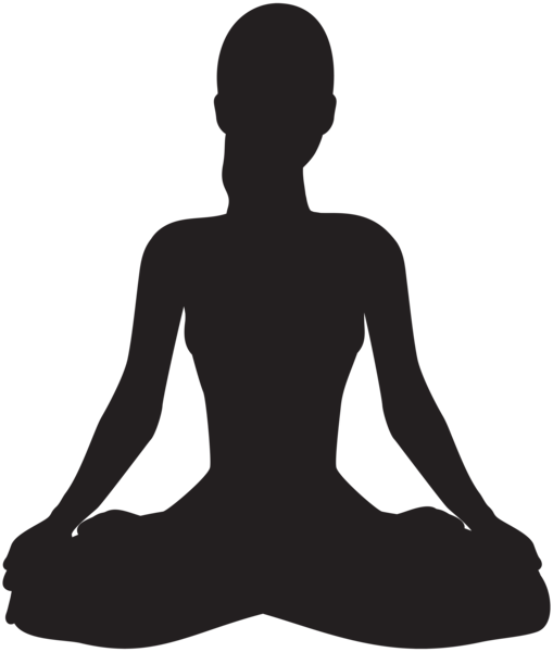 Meditating Silhouette Png Clip Art Silhouette Art Silhouette Silhouette Png