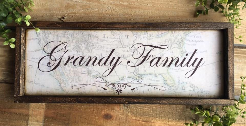 Family Name Sign Wood Map Walnut Last NameWhite Distressed wood ...