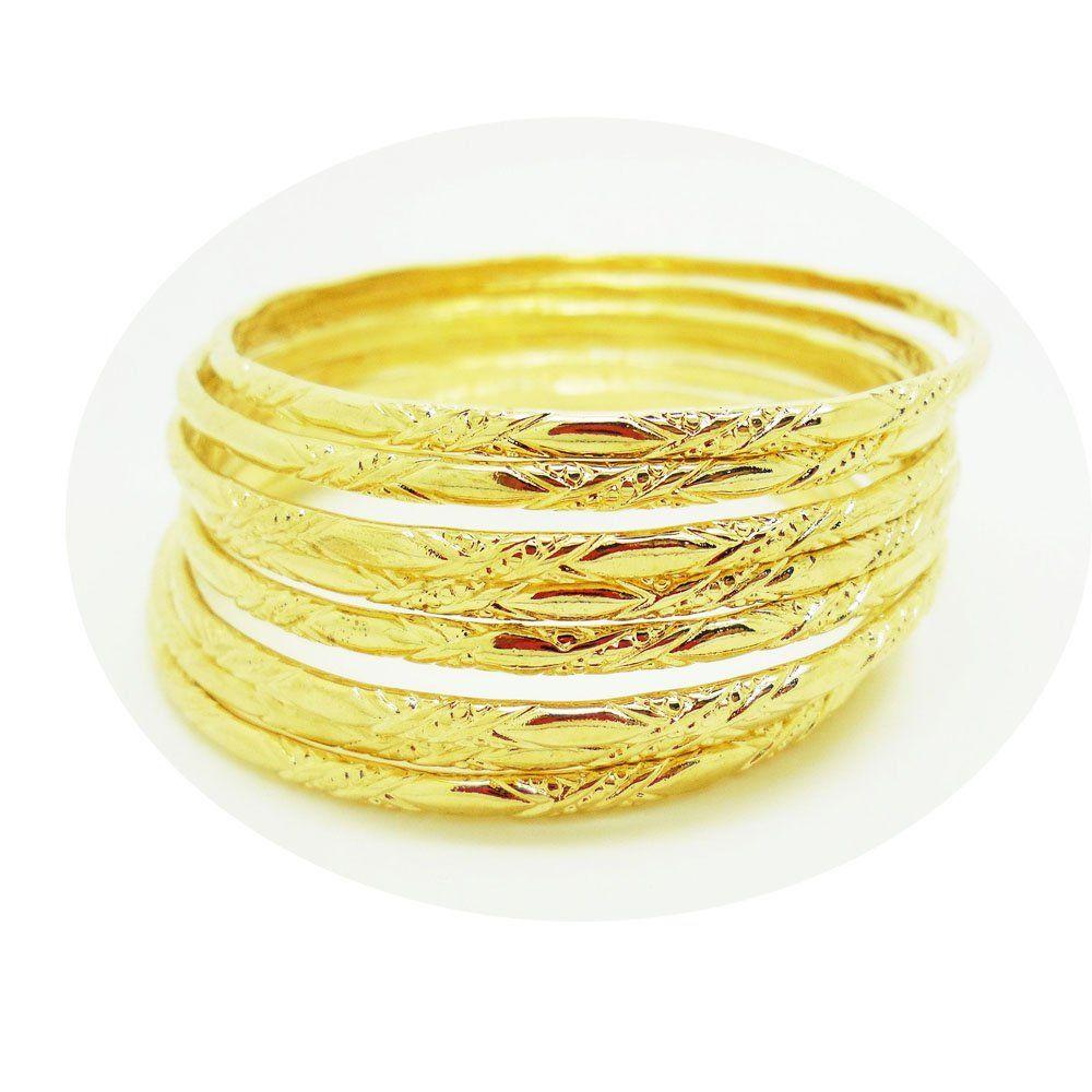 Set Of 8 Multiple Bracelets Bangle 18k 22k 23k 24k Thai Baht Yellow Gold Plated Awesome Products Selected By Ann Bangle Bracelets Multiple Bracelets Bangles