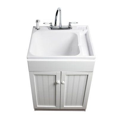 asb polypropylene utility tub in white