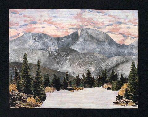 Art Landscape Quilt Patterns | 206 on the lake | quilt landscape ... : landscape quilt patterns - Adamdwight.com