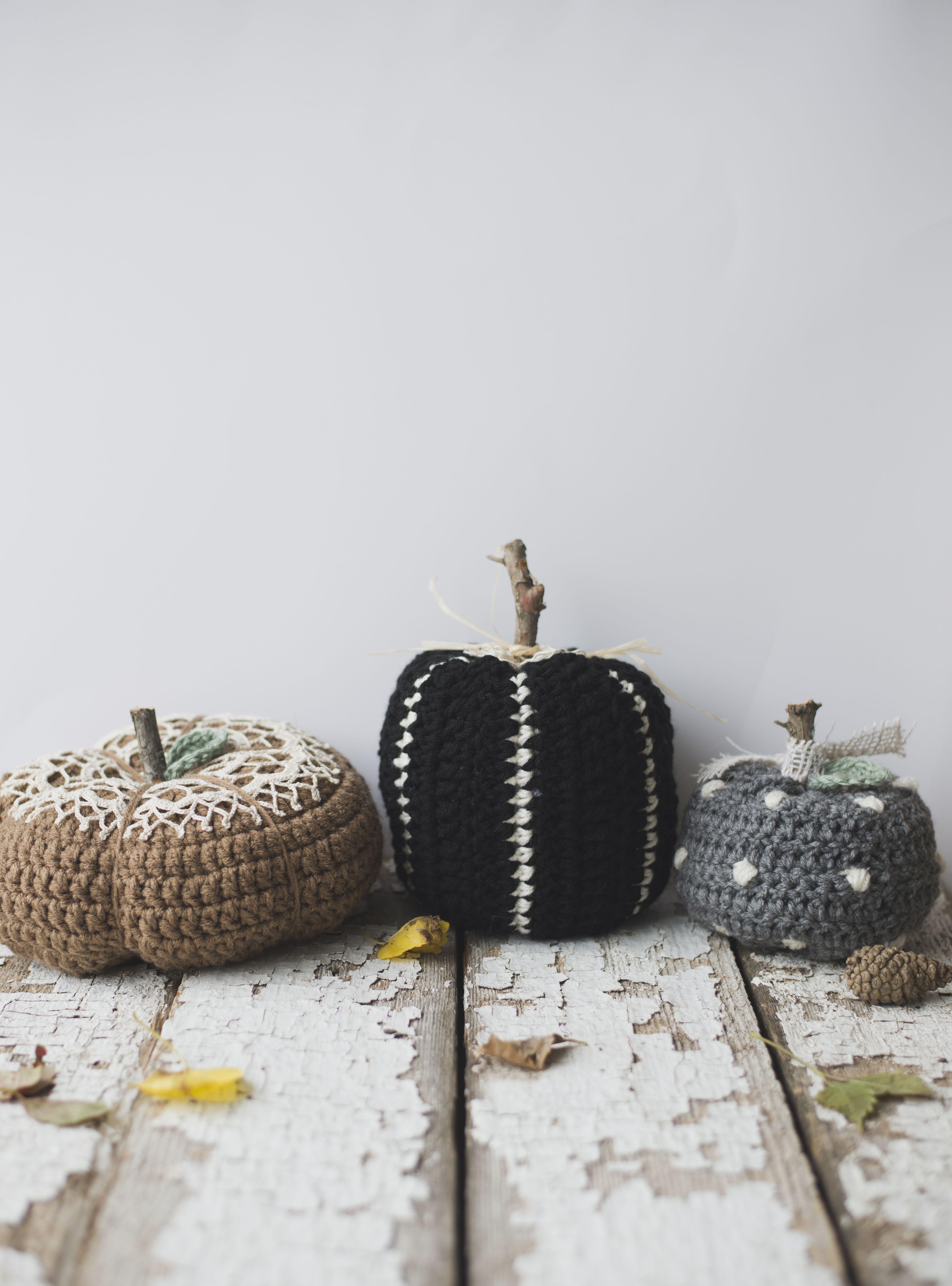 Crochet Striped Pumpkin (with Meg | Decoracion Hogar a Ganchillo ...