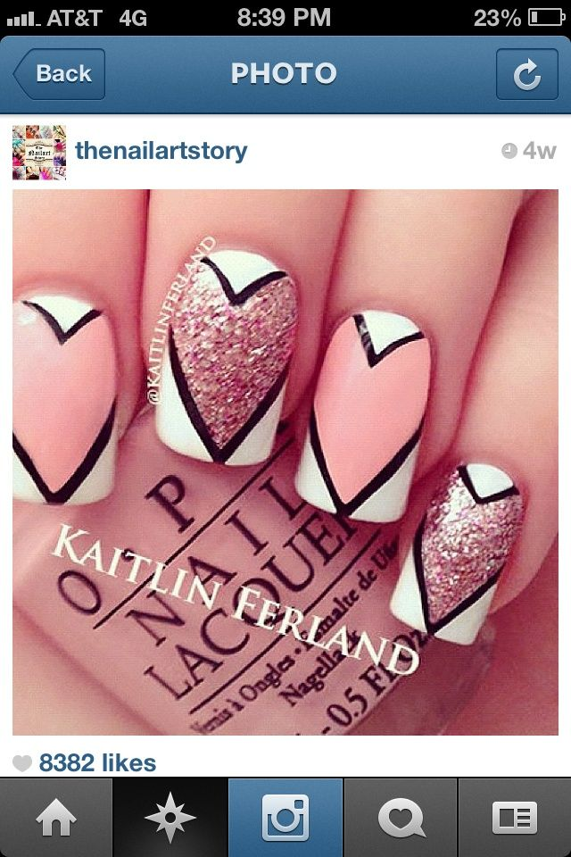 valentines nail designs pictures | Cool Valentines nails ...