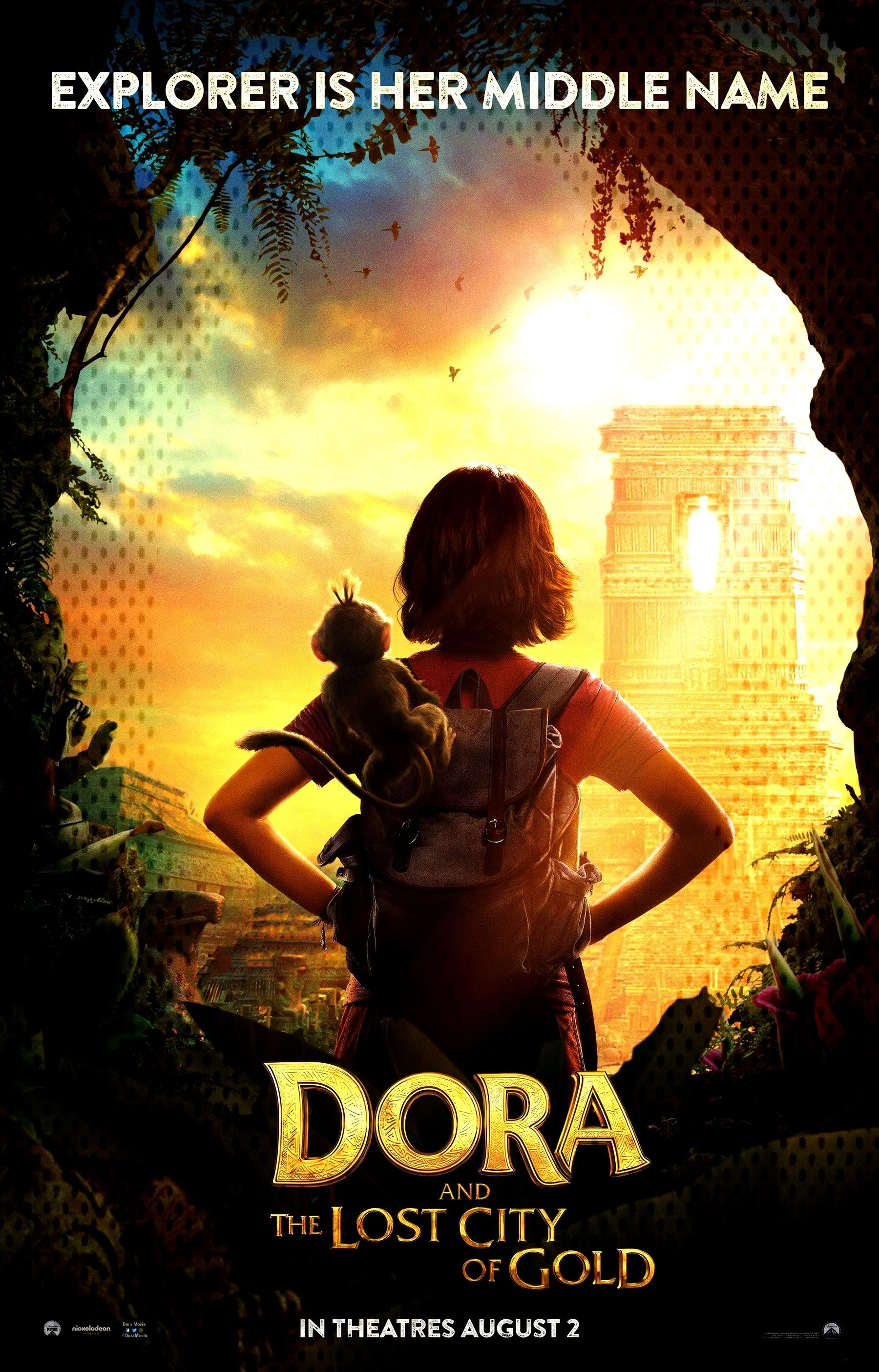 Dora the Explorerlive-action movie posters explore theLost City of Gold