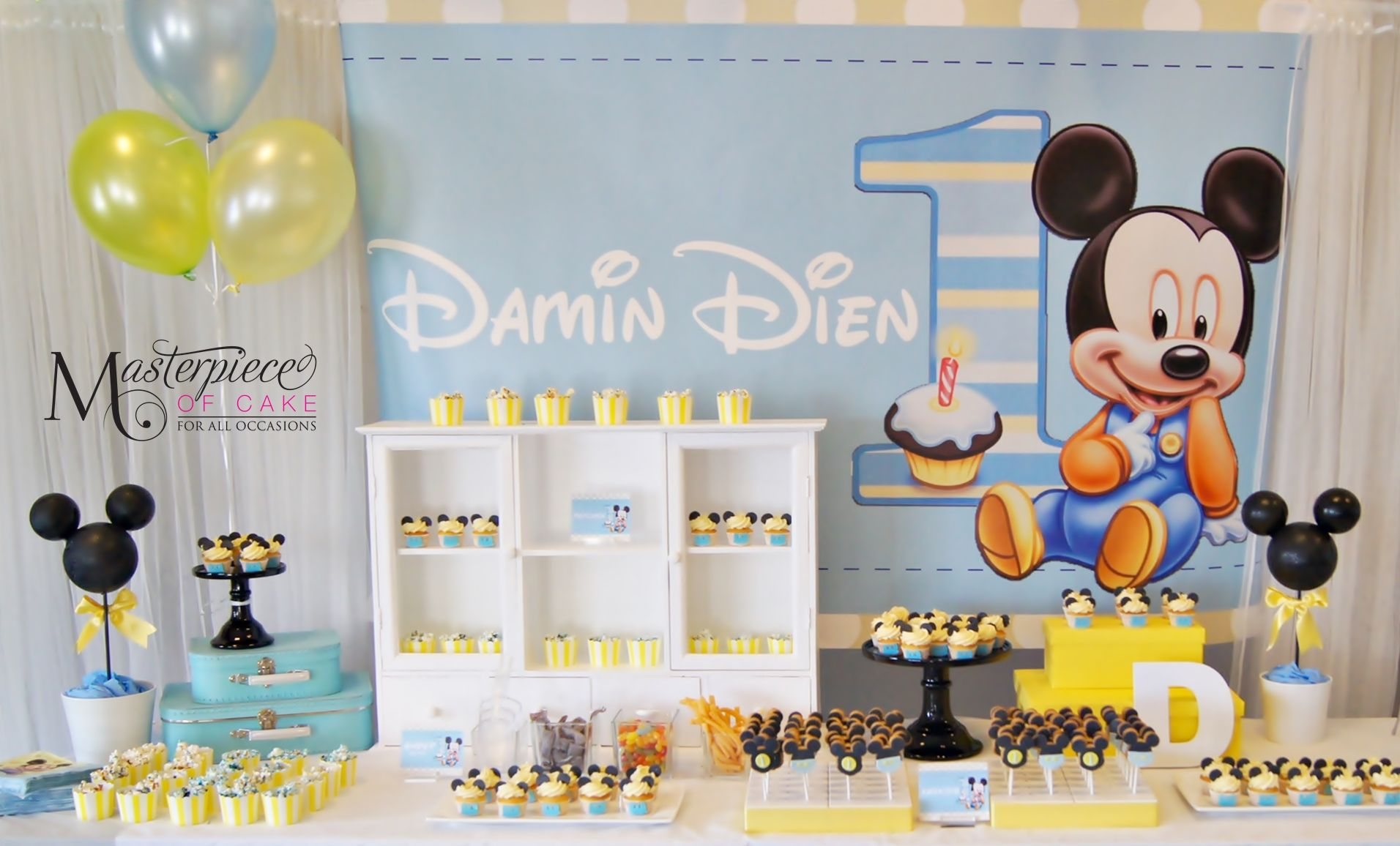 Baby Mickey 1st Birthday Sweet Dessert Table Sweets Design Styling And Pictures B Mickey 1st Birthdays Mickey Mouse 1st Birthday Mickey Mouse First Birthday