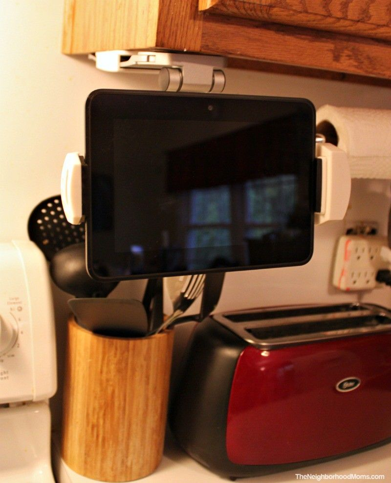 2 In 1 Kitchen Tablet Mount Stand The Neighborhood Moms