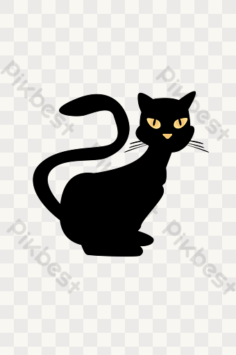 Halloween Cat Black Cat Png Images Psd Free Download Pikbest Halloween Cat Png Images Cartoon Posters