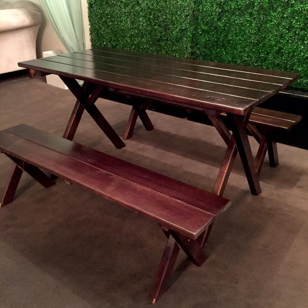 Signature Party Rentals Picnic Table Picnic Bench Table