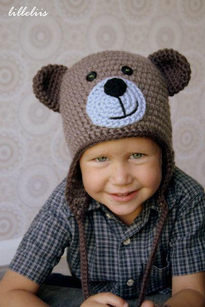 Crochet teddy bear hat – free pattern | crocheted items | Pinterest ...