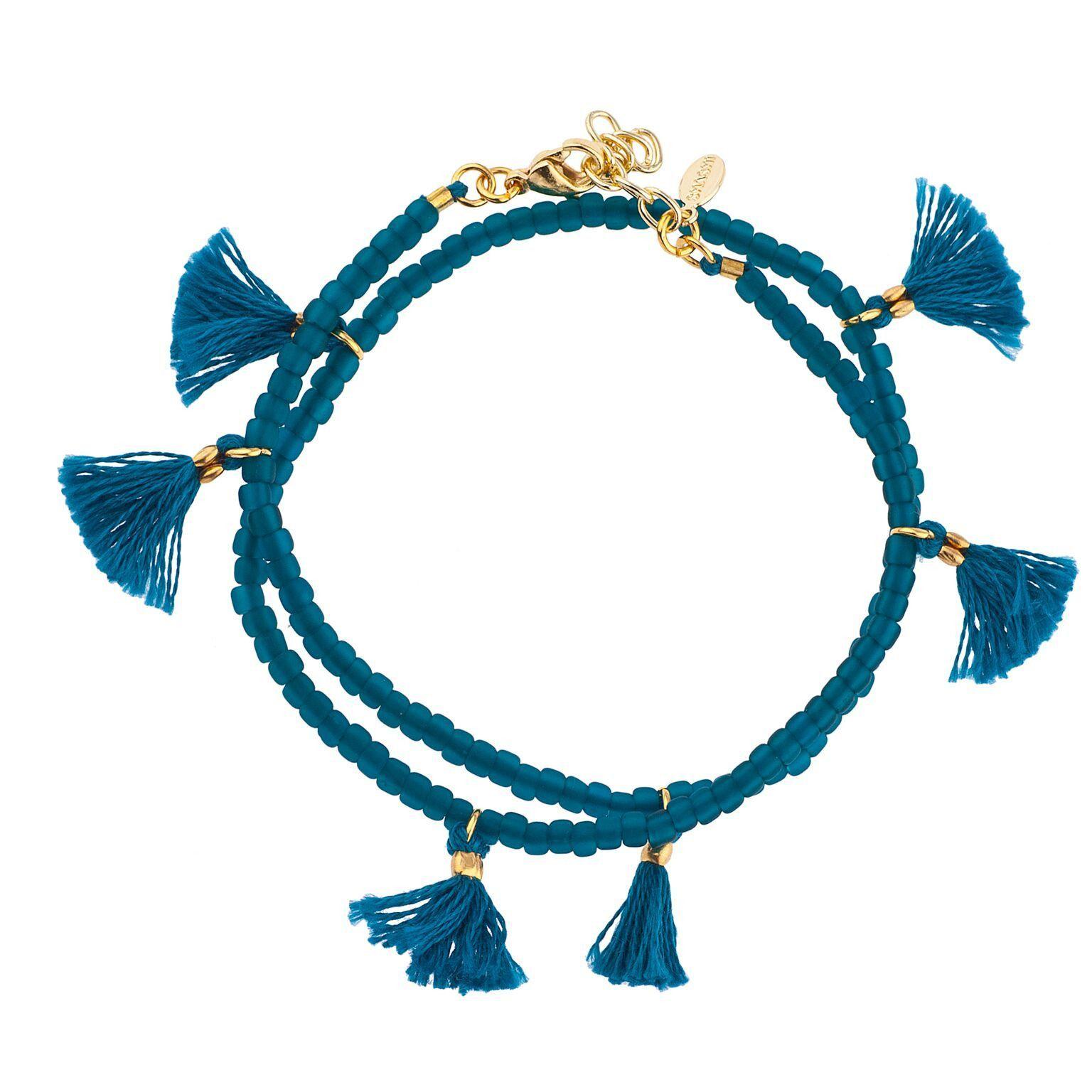 Shashi Laila Wrap Bracelet - Teal
