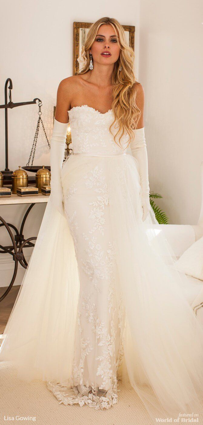 Lisa gowing wedding dresses chantilly lace wedding dress and