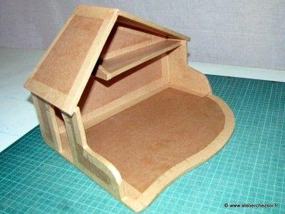 Tutoriel cr che de no l en carton patron offert no l pinterest meuble en carton - Tutoriel meuble en carton ...
