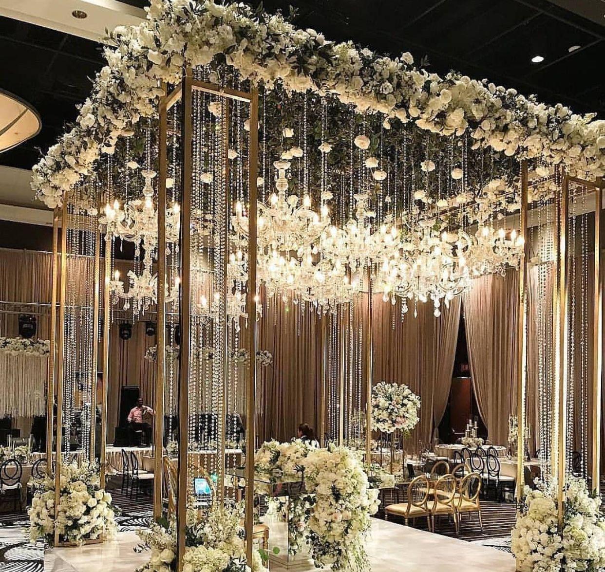 Beautiful Indoor Wedding Ceremony: Beautiful....place Over The Dance Floor Maybe