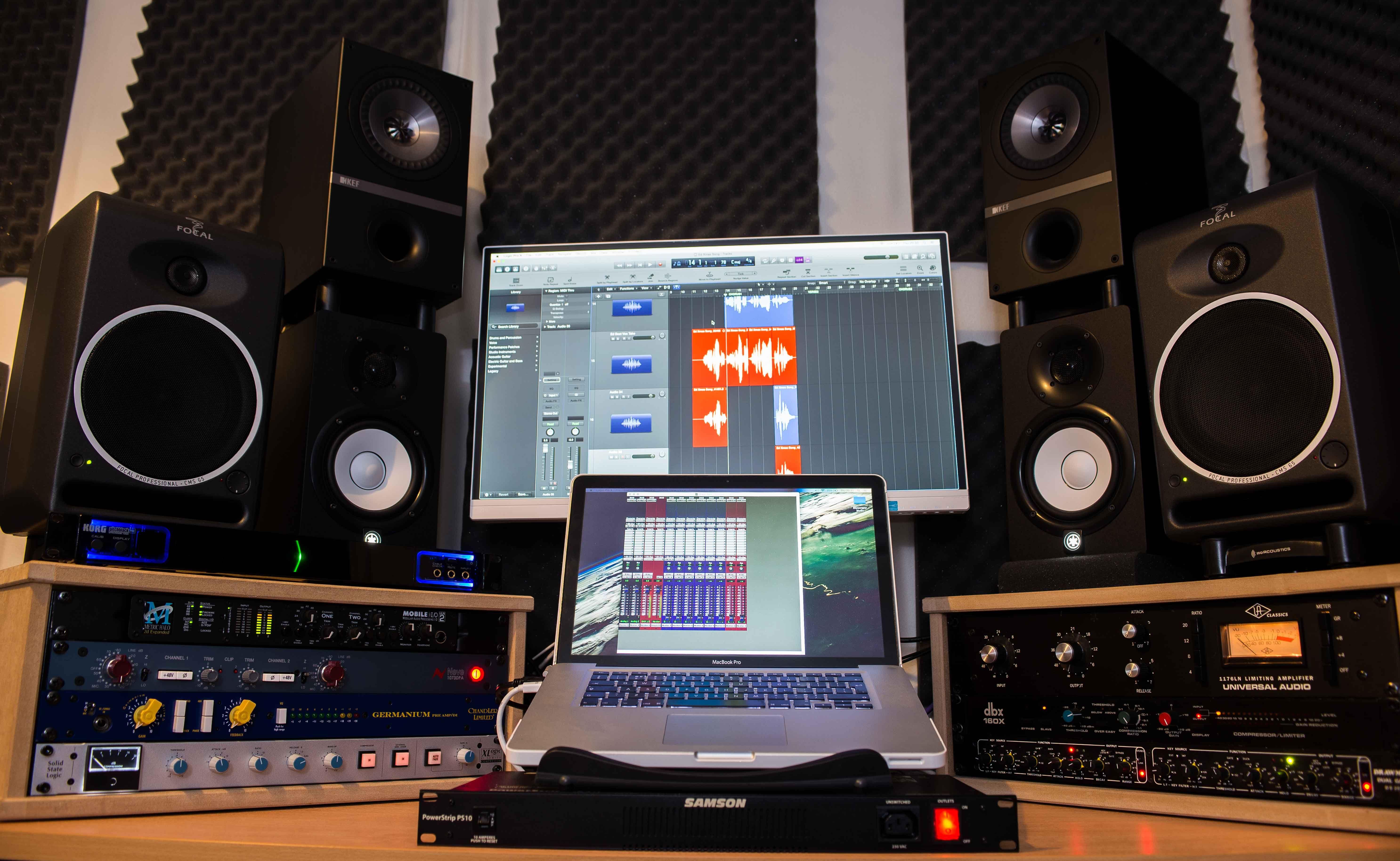 Recording studio, project studio, home studio, music, recording, mixing, mastering, production, Neve, SSL, Universal Audio, Chandler.