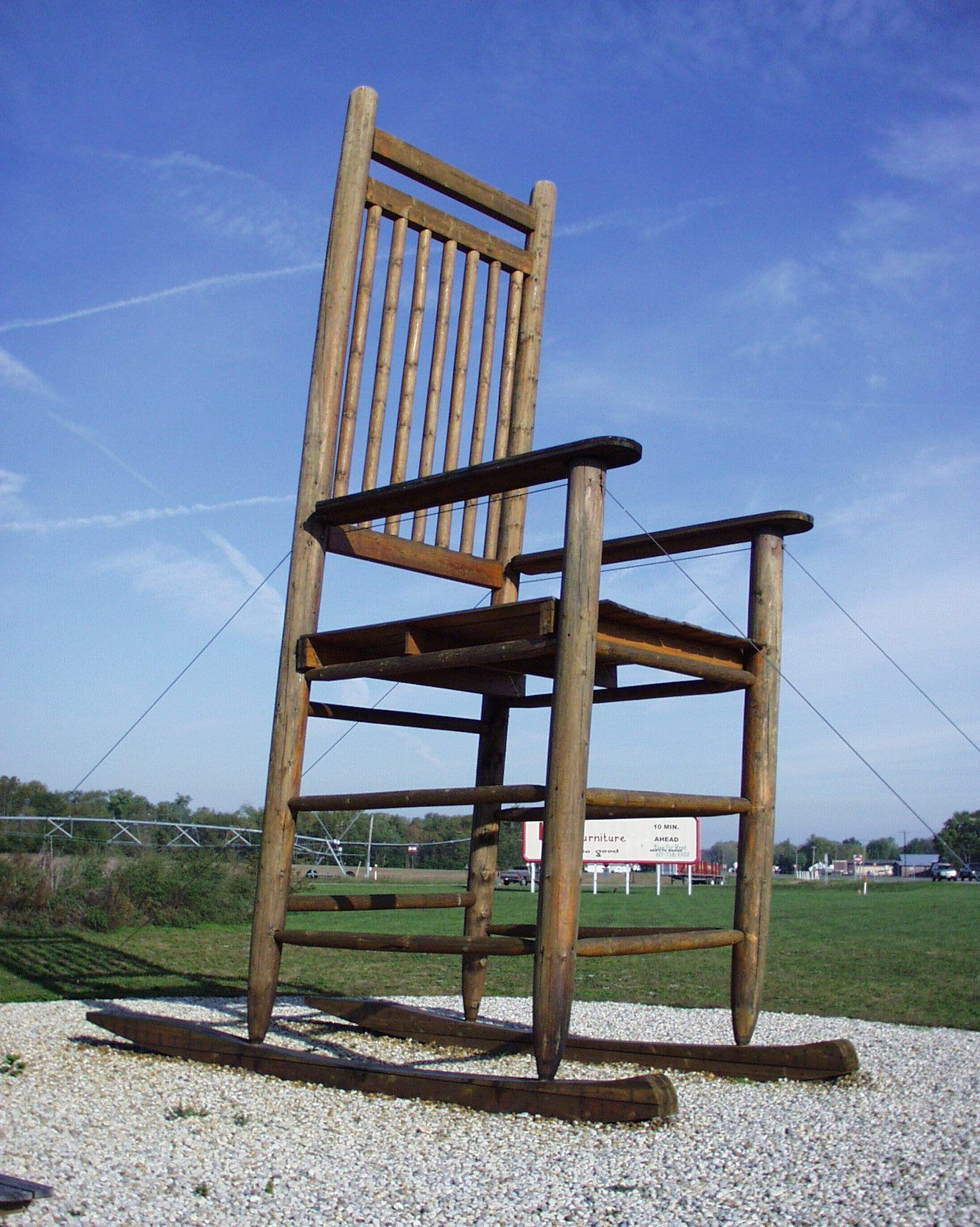 Giant Rocking Chair At Long S Furniture World In Franklin Indiana