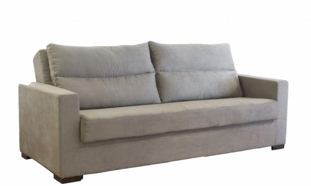 Outra opção de sofá para sala pequena...