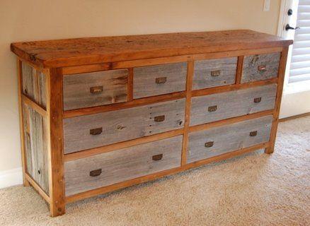 8 Drawer Dresser Made From Reclaimed Gangway Planks And Barn Wood Reclaimed Wood Dresser Wood Dresser Barn Wood