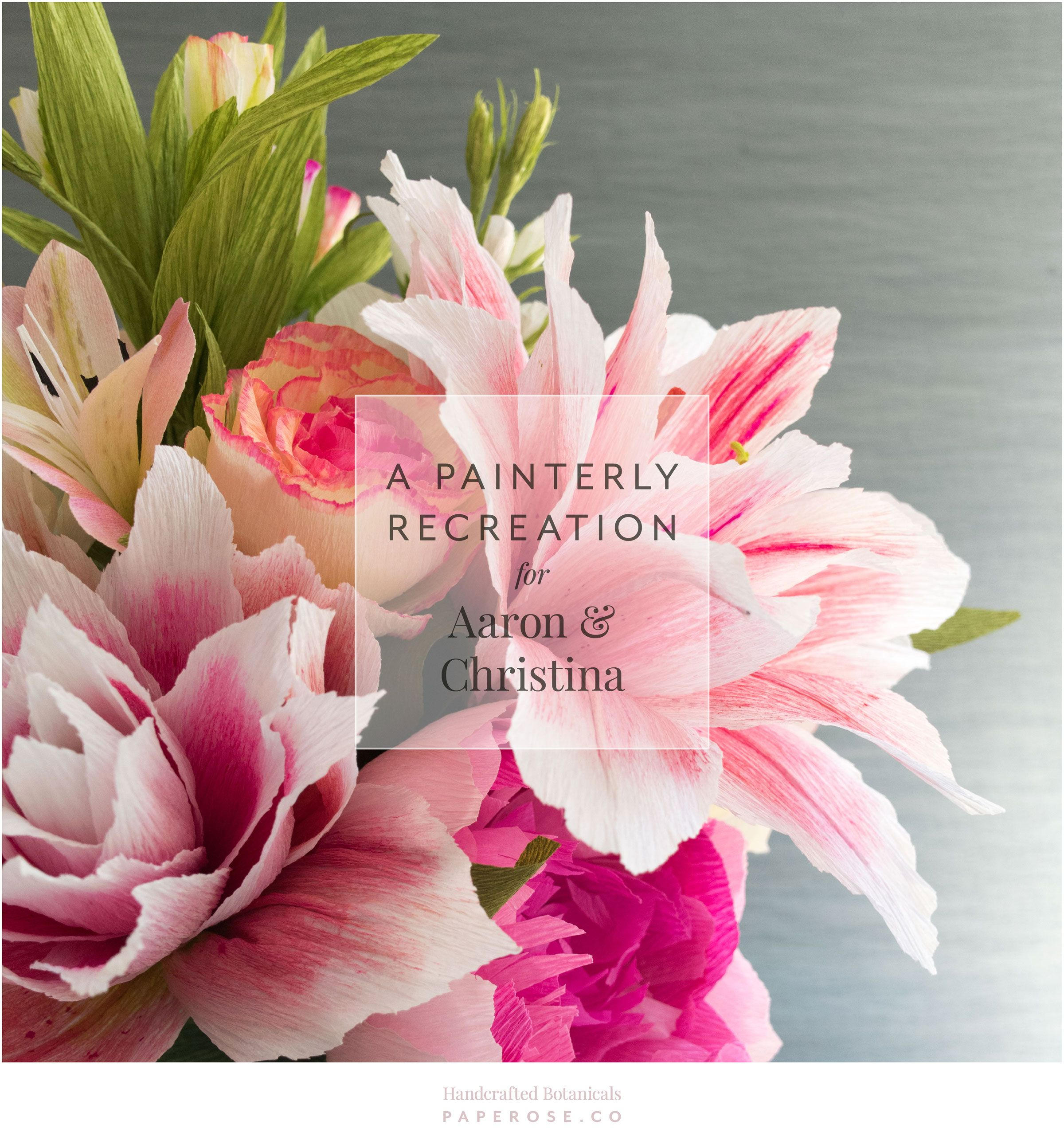 A Painterly Recreation For Aaron Christina Paper Rose Co
