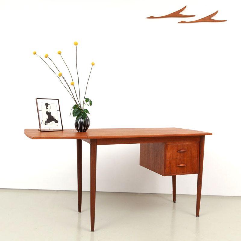 Teak Schreibtisch Von Edward Valentines 820 Dekor Gunstige Mobel Mobel Restaurieren