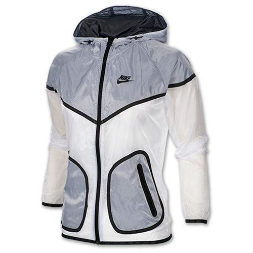 nike womens hyper windrunner jacket grey/white painted
