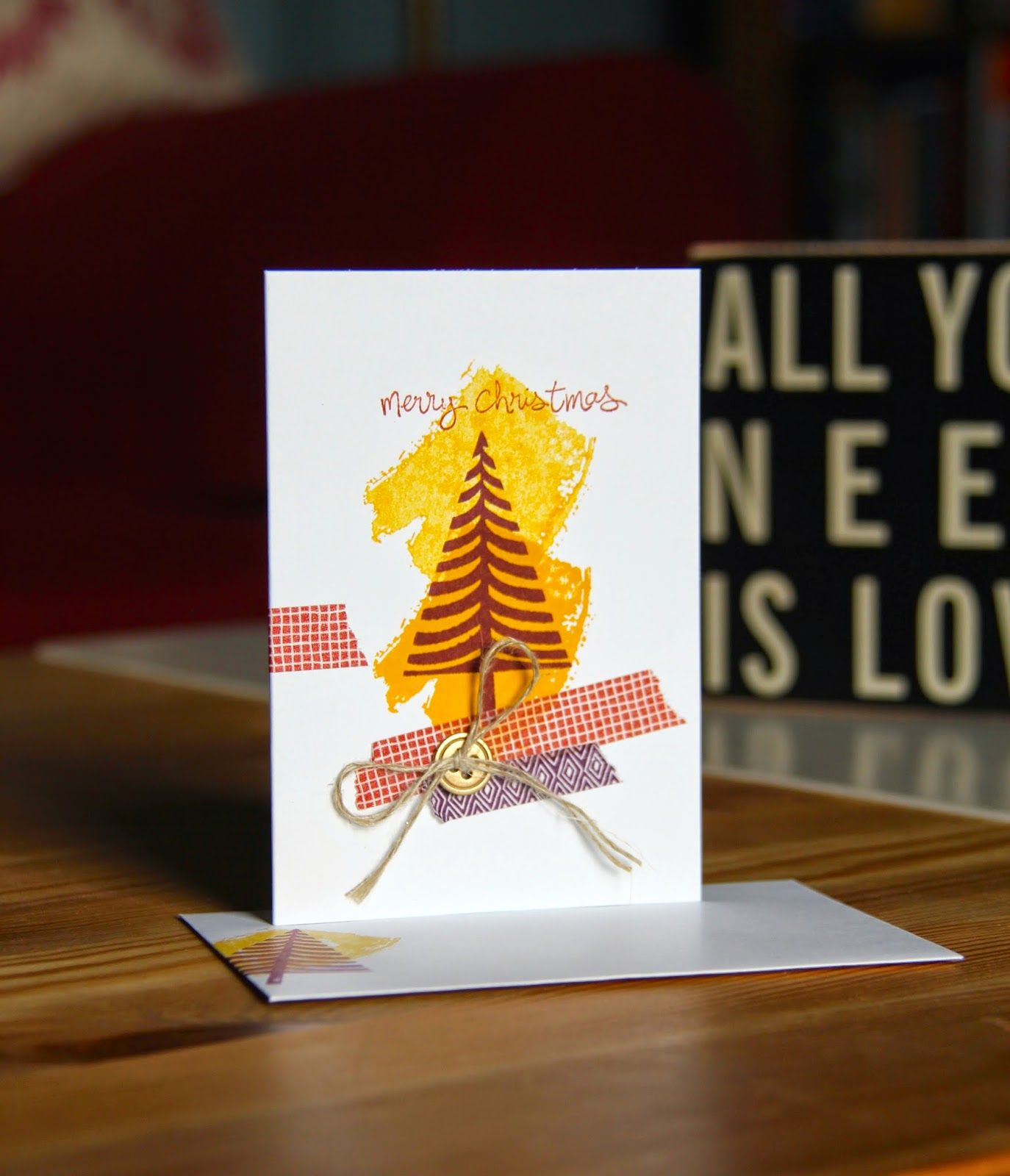 Stampin Up UK Demonstrator Zoe Tant blog  Non traditional colours Christmas card using Festival of trees and good greetings