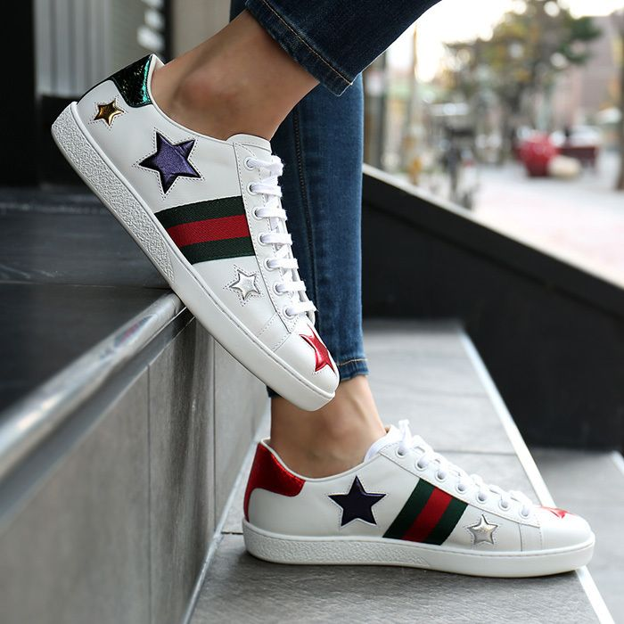 0c1033fca87c9 GUCCI Low-Top 17th SS spring summer GUCCI women s ACE star sneakers