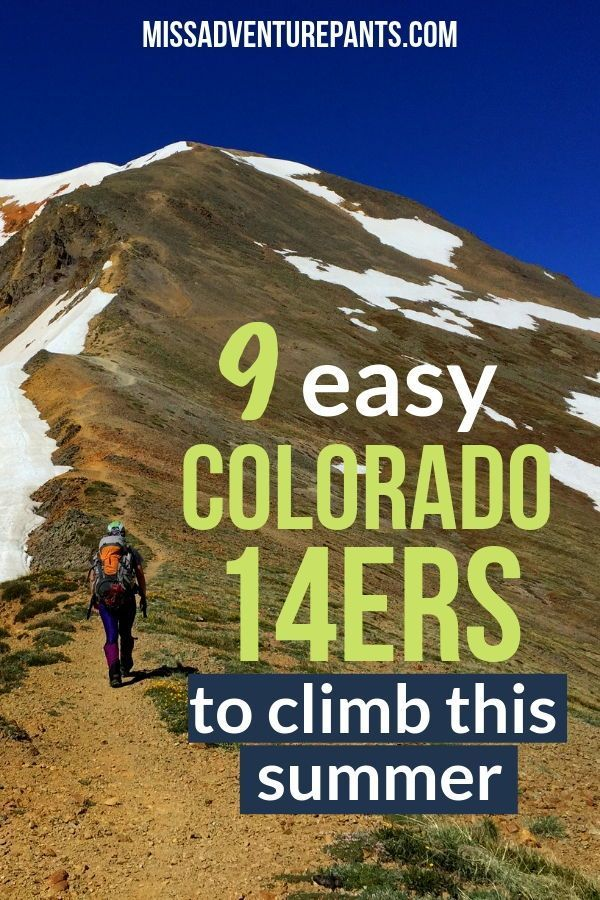 The best Colorado 14er hikes for beginners! All of the hikes on this list are on good trails with a...