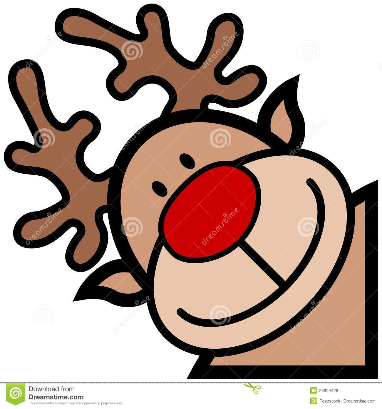 Reindeer Cartoon Royalty Free Stock Image Image 26929426 Cartoon Reindeer Reindeer Face Reindeer