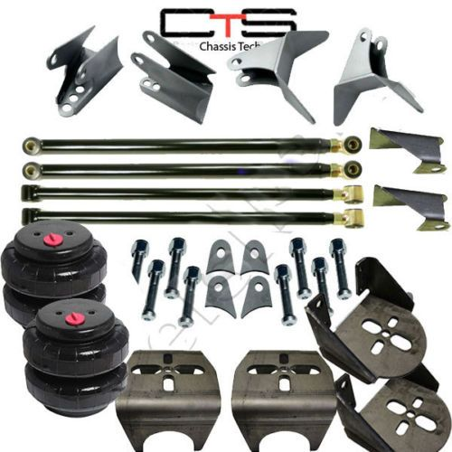 Weld-On-Triangulated-4-Link-Kit-Rear-Brackets-amp-2500-Bags-Air-Ride