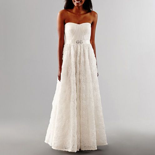 159 Free Shipping Available Buy One By Eight Beaded Wedding Gown At Jcpenney Com Today And Enjoy Beaded Wedding Gowns Wedding Strapless Wedding Dresses Lace