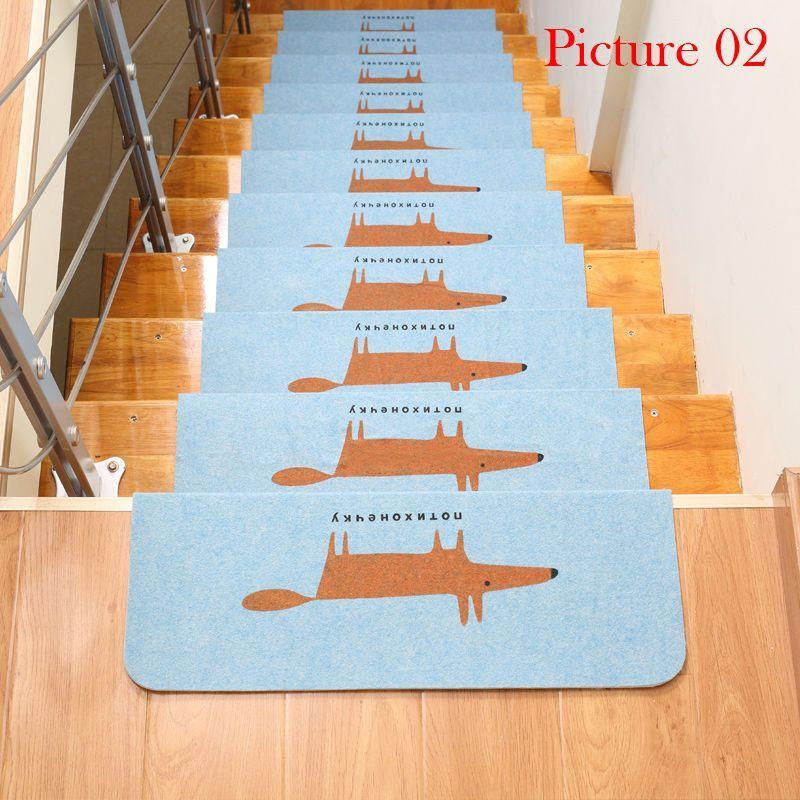 Stair Treads Anti Slip Stair Mats Rugs Pads Runner Mute Staircase Carpet  Home Decor Semicirle