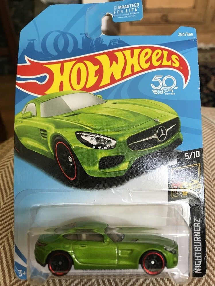 2018 Hot Wheels 5 2015 Mercedes Benz Amg Gt Lime Green