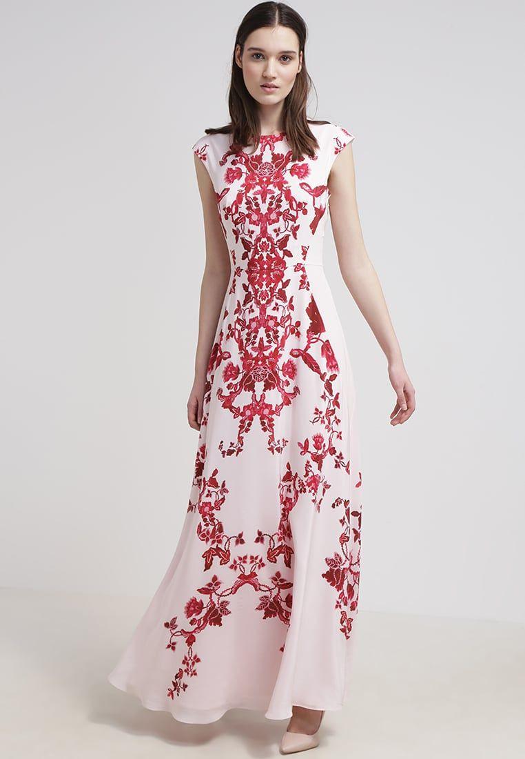 Ted baker nelum maxi dress nude pink my style pinterest