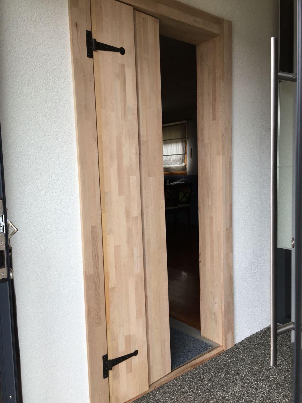 Sichtschutz Buche Leimholz Mit Schmiedescharnier Leimholz Holz Sichtschutz