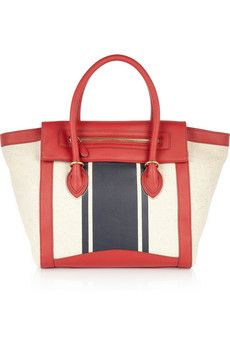 J.Crew - Tillary leather and cotton-canvas tote
