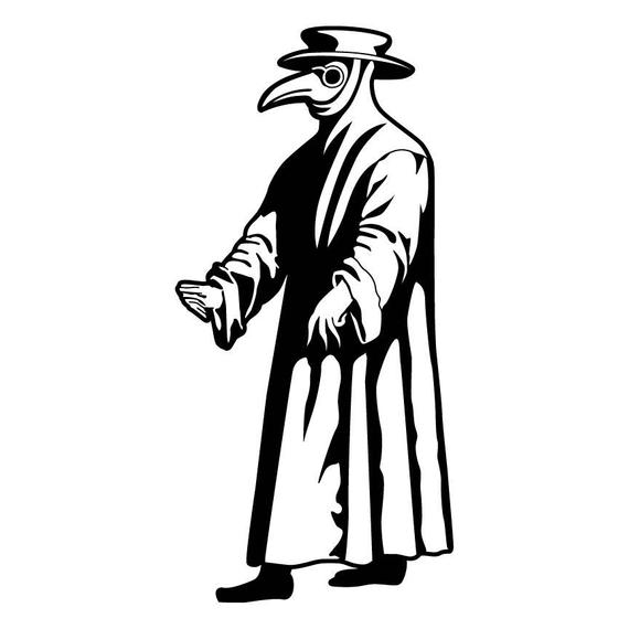Plague Doctor Vinyl Decal Etsy In 2020 Plague Doctor Plague Vinyl Decals