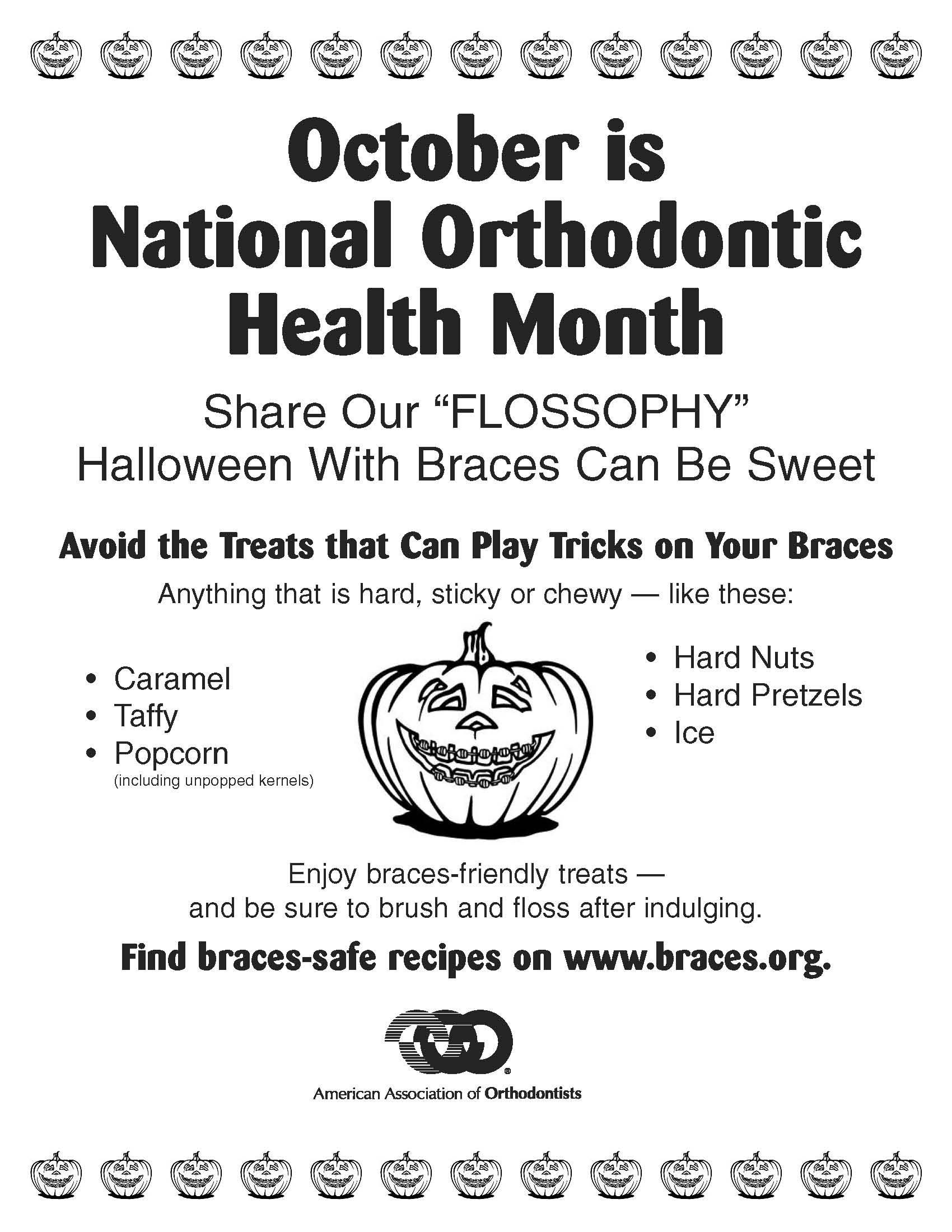 Halloween With Braces Can Be Sweet Just Watch What You Eat