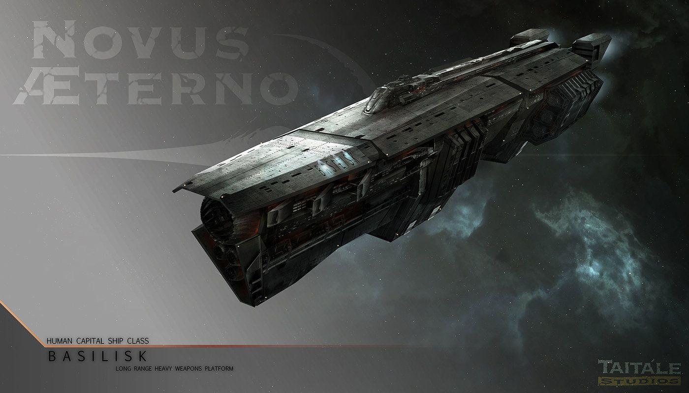 Novus Aeterno: Basilisk Capital Ship, Adam Burn on ArtStation at https://www.artstation.com/artwork/novus-aeterno-basilisk-capital-ship