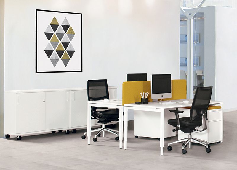 Office desking - NOVA H Manual height adjustment desks - home offices im industriellen stil