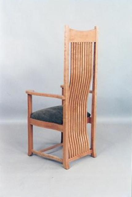 Cherry Dining Chair Based On Frank Lloyd Wrights Robie Chair The Back Slats Have A