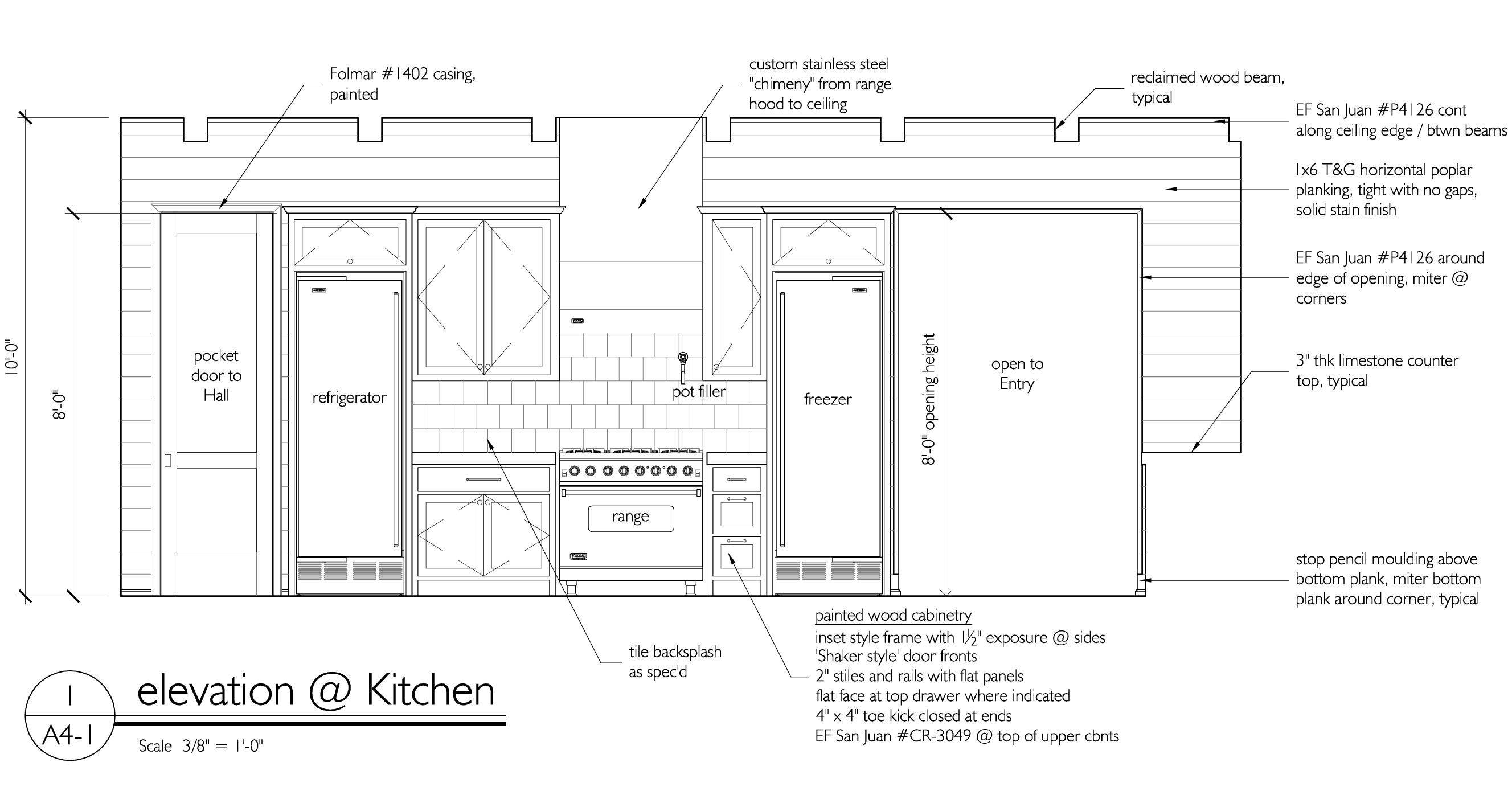 Tracery Kitchencad1 Jpg Jpeg Image 2655x1403 Pixels Scaled 47 Interior Rendering Construction Drawings Kitchen Drawing