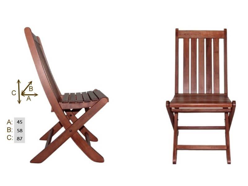 AHŞAP SANDALYE Bahçe için sandalye modelleri 1