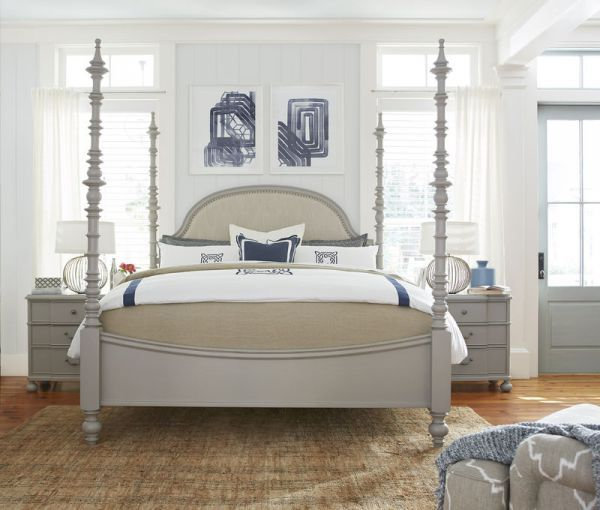 Paula Dean Dogwood Grey 4 Post King Bed   Woodstock Furniture Outlet